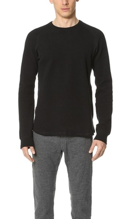 Wings + Horns - Honeycomb Knit Crew Neck Sweater