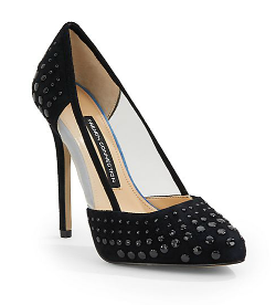 French Connection  - Calista Studded Mixed-Media Pumps