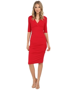 Nicole Miller - Joss Ponte Ruched Dress