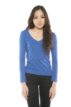 Shoptiques - Long Sleeve V-Neck Basic T-Shirt
