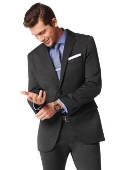 Banana Republic - Charcoal Italian Wool Suit Jacket