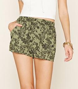 Forever 21 - Ornate Print Woven Shorts
