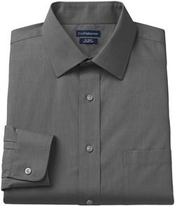 Croft & Barrow - Classic-Fit Dogbone Textured No-Iron Spread-Collar Dress Shirt