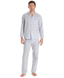 Brooks Brothers - Wrinkle-Resistant Blue Stripe Pajamas