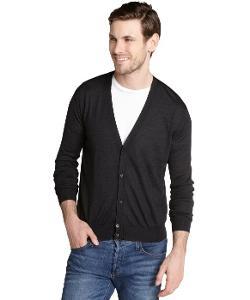 Prada  - Black Cashmere Blend Cardigan