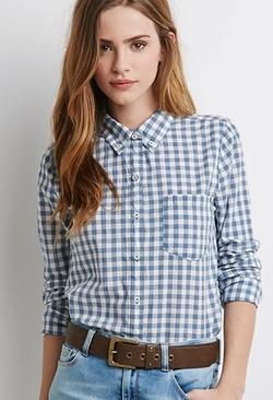 Forever 21 - Gingham Pocket Shirt