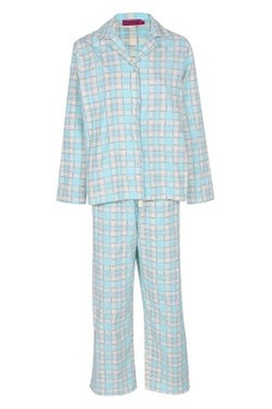 Bohoo - Sasha Long Sleeve Flannel Check Pyjama Set