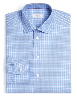 Eton Of Sweden - Grid Check Contemporary Fit Dress Shirt