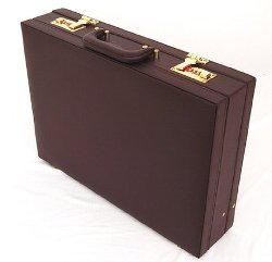 Transworld - Faux Leather Attache Case Briefcase