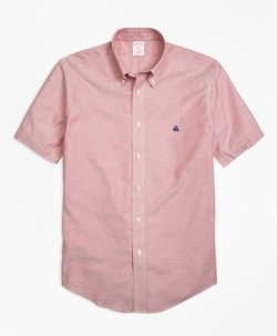 Brooks Brothers - Madison Fit Short-Sleeve Oxford Sport Shirt