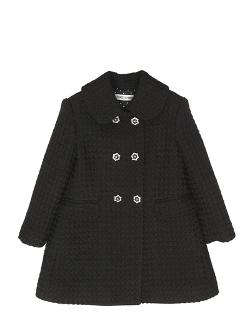 Dolce & Gabbana  - Double Breasted Wool Boucle Coat