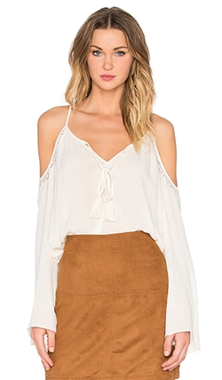 Bishop + Young  - Cold Shoulder Peasant Blouse