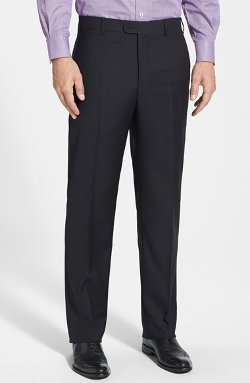 Zanella - Devon Flat Front Wool Trousers