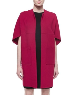Josie Natori  - Fortune Cookie Short-Sleeve Coat