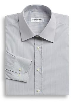 Yves Saint Laurent  - Modern-Fit Fine Striped Dress Shirt