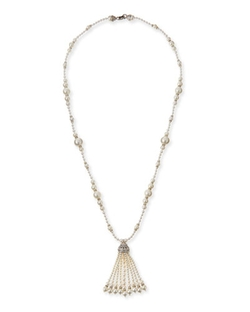Jose & Maria Barrera	  - Long Simulated Pearl Tassel Necklace
