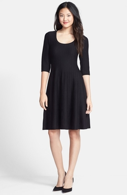 Nic+Zoe  - Twirl Elbow Sleeve Knit Fit & Flare Dress