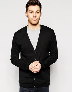 Asos - Black Cotton Cardigan