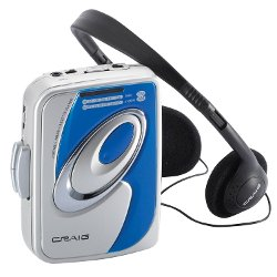 Craig Electronics  - Personal AM/FM Stereo Radio Cassette Player with Headphones