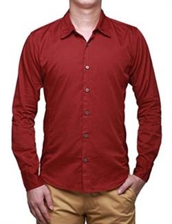 Match - Casual Cotton Long Sleeve Shirt