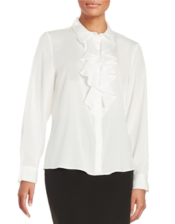 Karl Lagerfeld Paris - Ruffle Front Blouse