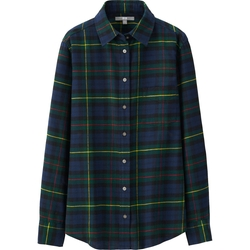 Uniqlo - Flannel Check Long Sleeve Shirt