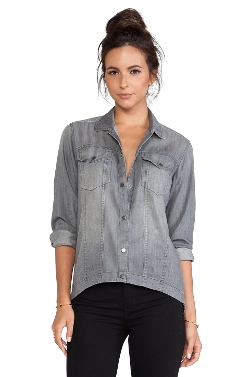 Frankie - Button Down Denim Shirt