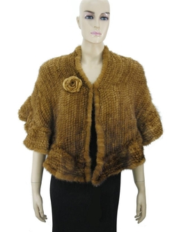 Hima - Knitted Mink Fur Stole