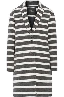 Maje - Goelette Striped Woven Coat