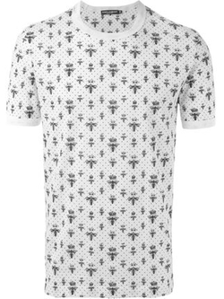 Dolce & Gabbana - Crown & Bee Print T-Shirt