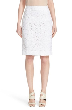 Kate Spade New York - Floral Lace Pencil Skirt
