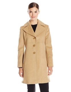 Larry Levine -  Single-Breasted Notch Collar Coat