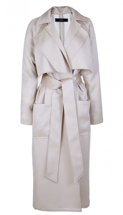 Tibi - Double Face Satin Soft Trench Coat