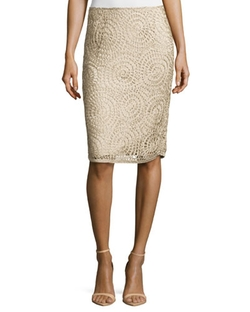 Lafayette 148 New York  - Circle-Pattern Slim Skirt