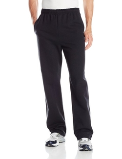 Jerzees  - Black Adult Open Bottom Sweatpants