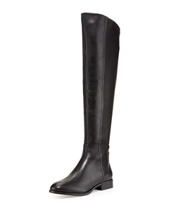 Steven by Steve Madden  - Erupt Layered Leather Over-The-Knee Boots