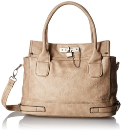 MG Collection - Ostrich Padlock Office Tote Bag