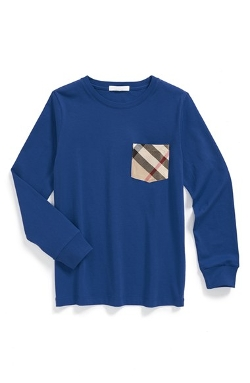Burberry  - Check Pocket Long Sleeve T-Shirt