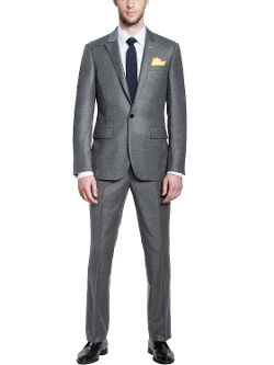 HBDesign - Button Peak Lapel Slim Fit Pure Business Suit