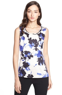 St. John Collection - Desert Floral Print Top