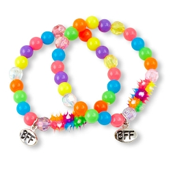 BFF - Rainbow Spikes Bracelet Set