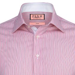 Thomas Pink - Hillard Stripe Slim Fit Button Cuff Shirt