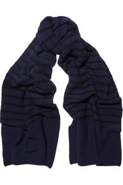 Topshop Unique - Broadwick Ribbed Striped Scarf