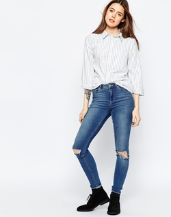 Asos Collection - Stripe Boyfriend Shirt