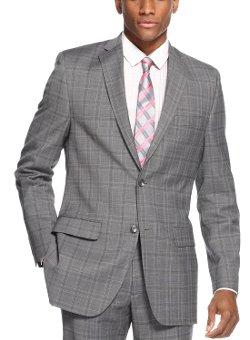 Alfani - Men`s Grey Plaid Sport Coat