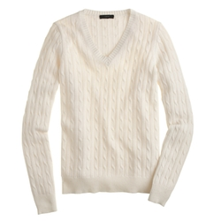 J. Crew - Cable V-Neck Sweater
