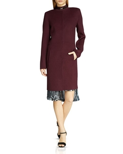Halston Heritage  - Seamed Wool Coat