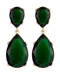 Kenneth Jay Lane  - Crystal Double Drop Earrings