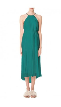 Tibi - Simone Silk Pleated Midi Dress