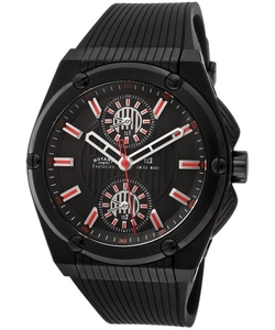 Rotary  - Evolution Black Rubber Black Dial Black Case Watch